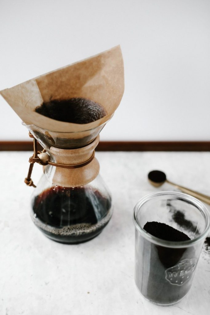 Coffee being made